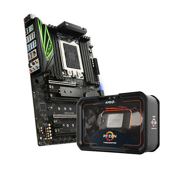 Kit d'évolution Processeur AMD Threadripper 2990WX + Carte mère MSI X399 SLI Plus