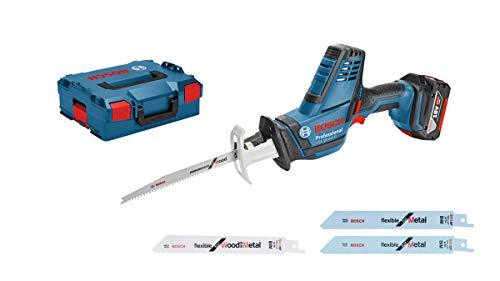 Scie sans fil Bosch Professional GSA 18 V-LI C  + Batterie 2,0 Ah + 3 lames