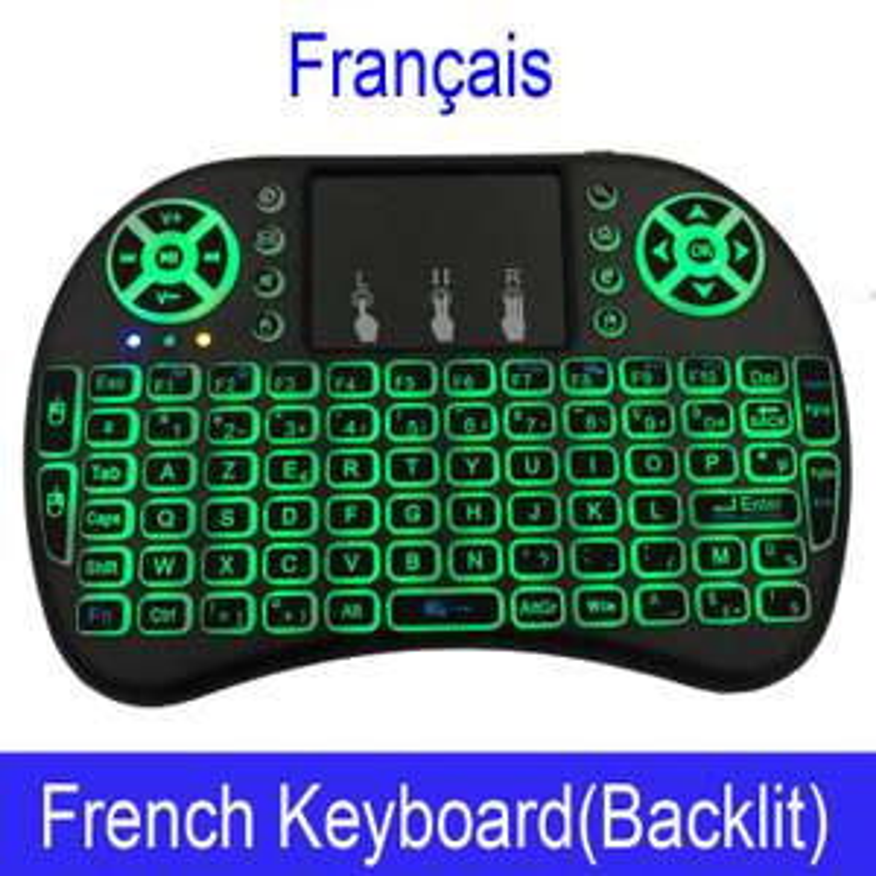 Mini clavier sans-fil Mini i8 - 2.4GHz, rétro-éclairé