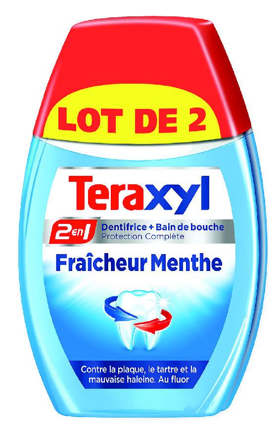 Lot de 2 dentifrices Teraxyl 2en1 (Via 2.09€ sur la carte)