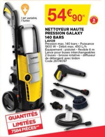 Nettoyeur haute-pression Lavor Galaxy (140 bars, 1900 W) + accessoires