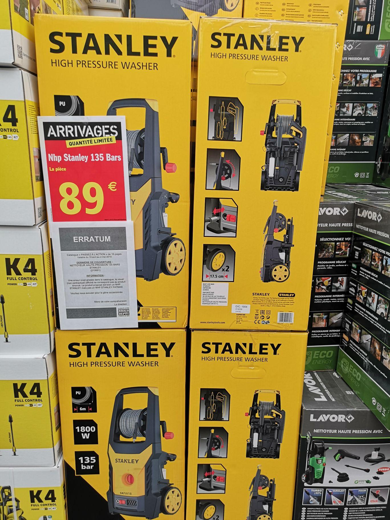 Nettoyeur haute-pression Stanley (135 bars) - Laval (53)