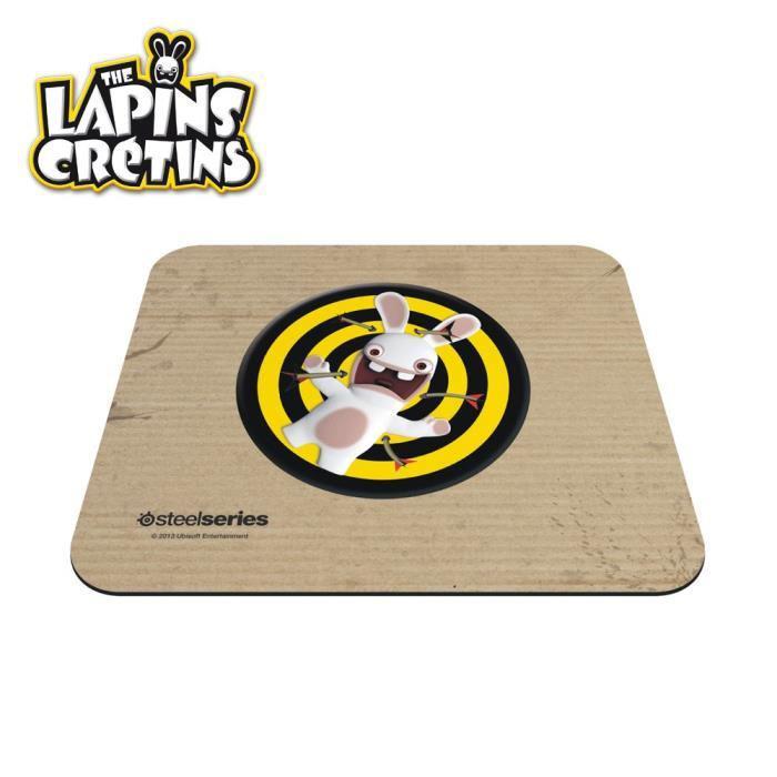 tapis de souris Steelseries  Lapins Crétins  25 x 21 cm