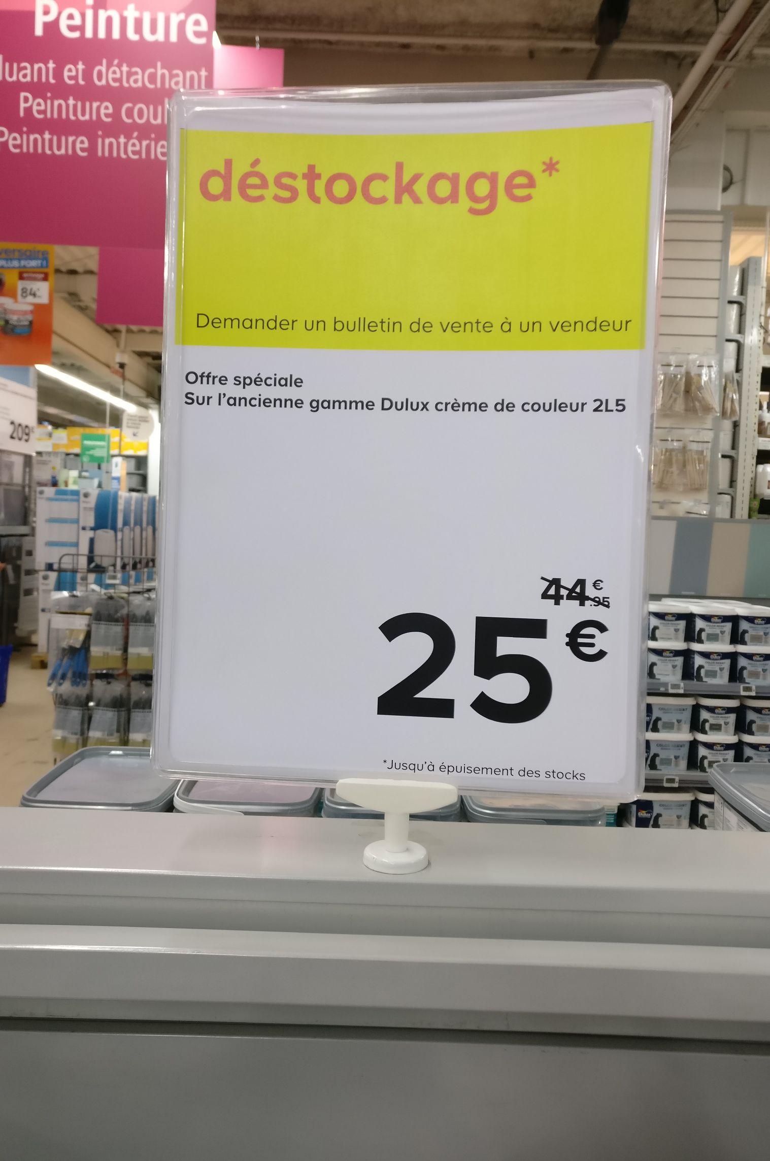 Pot de peinture Dulux Valentine Crème de couleur (2.5l) - Velizy (78)