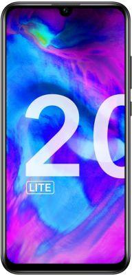"Smartphone 6.2""  Honor 20 Lite - Full HD 4 Go de RAM, 128 Go de ROM, Noir (via reprise de votre ancien smartphone de 50€)"