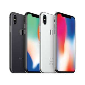 "Smartphone 5.8"" Apple iPhone X Gris Sidéral - 64 Go (Reconditionné Grade A+) - Via ODR de 50€"