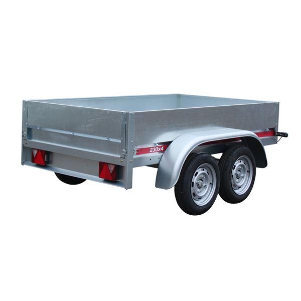 Remorque Erde Double essieux (PTAC 500Kg) - 316 x 177 x 91 cm (Dimension utiles : 224 x129 x 36 cm)
