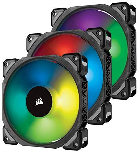 Lot de 3 ventilateurs Corsair ML120 Pro RGB - 120mm avec Lighting Node PRO