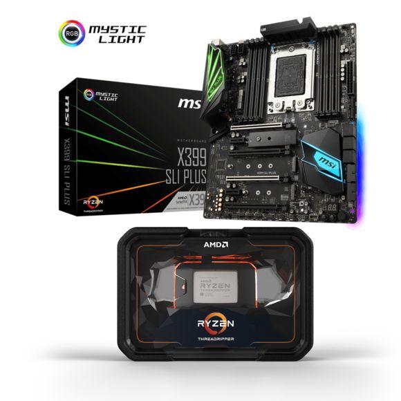 Pack processeur Ryzen Threadripper 2950X (3.5 GHz) + carte-mère MSI X399 SLI Plus