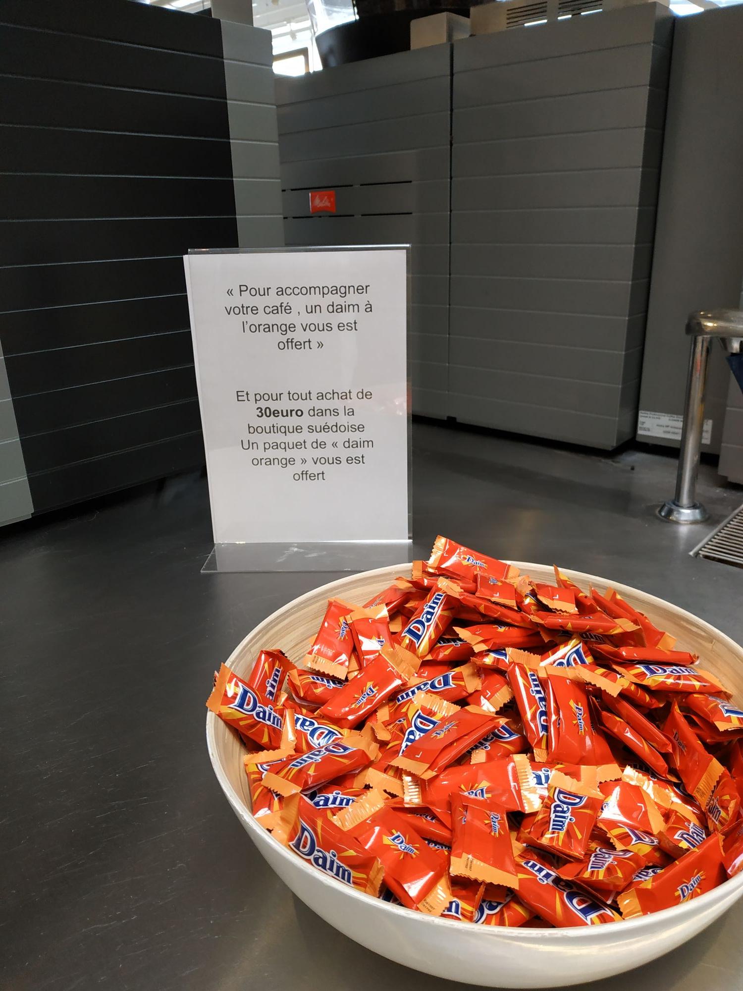 Un paquet de friandises Daim Orange offert dès 30€ d'achat dans la boutique suédoise - Gonesse (95)