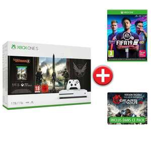 Console Microsoft Xbox One S 1To + The Division 2 + Fifa 19 + Gear of War 4