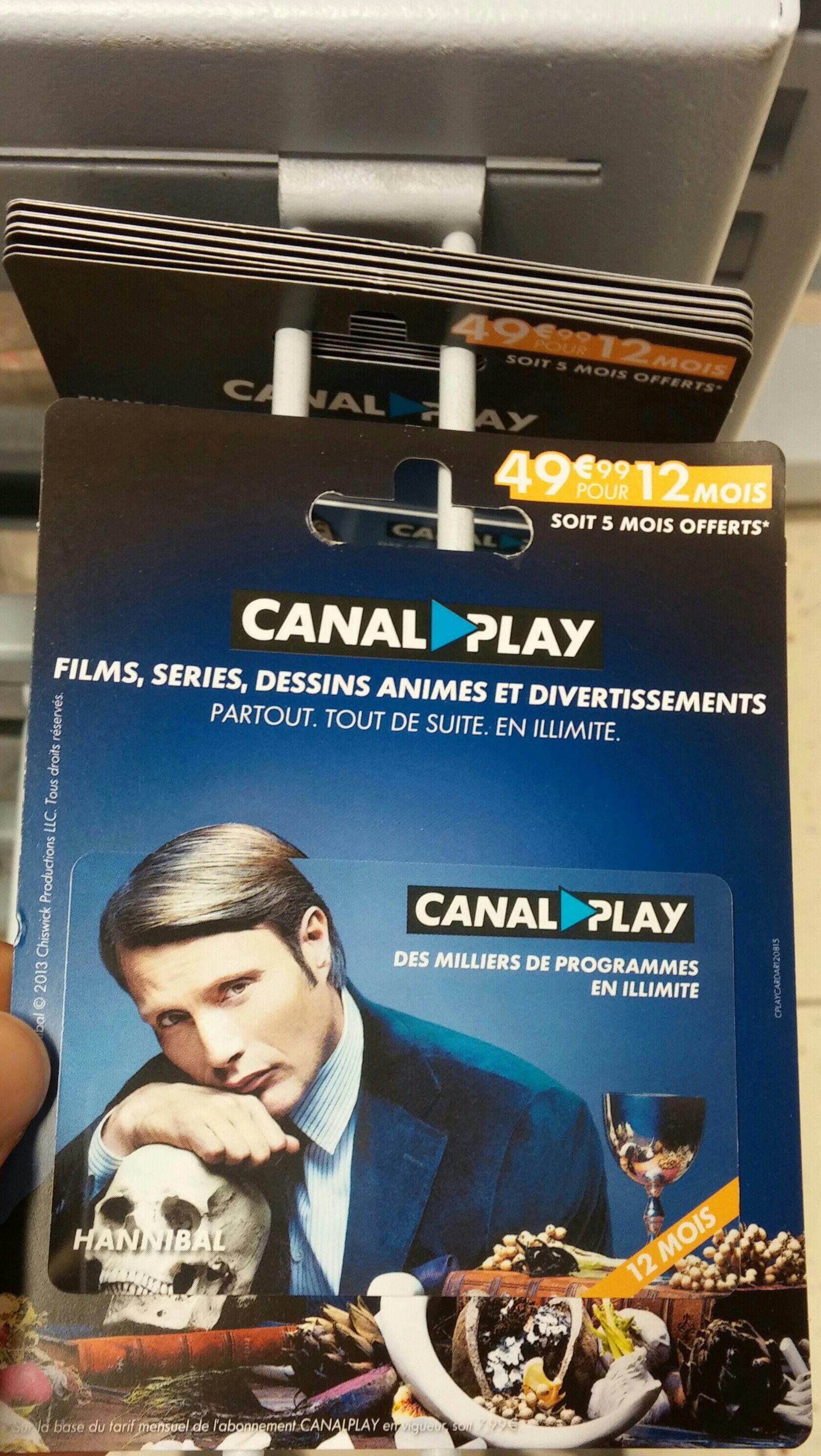 Abonnement CanalPlay pendant 1 an