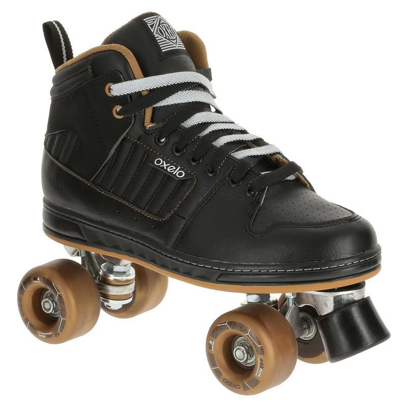 Roller Quad 5 Alu Noir Bronze Oxelo - Tailles 37-38-39