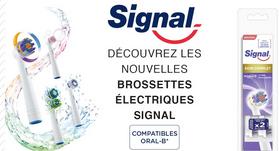 Lot de 2 Brossettes Electriques Signal - Variétés au choix compatibles Oral B (Via BDR + Quoty)