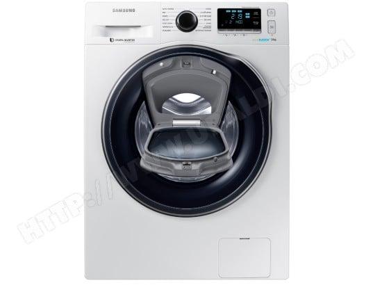 Lave linge connecté Frontal Samsung WW90K6414QW - Wi-Fi, Add Wash,  9 kg, Classe A+++ (via ODR de 60€)