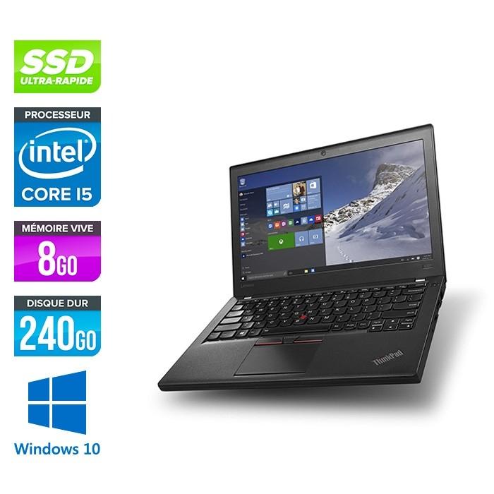 "PC Portable 12.5"" Lenovo Thinkpad X270 - HD, i5-6300U, 8 Go de RAM, 240 Go SSD NVMe, Windows 10  (Reconditionné)"