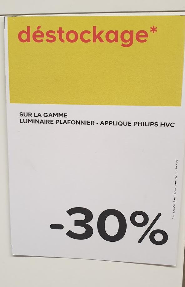 30% de réduction sur la gamme d'appliques et plafonniers Philips Hue - Antibes (06)