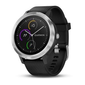 Montre connectée GPS Garmin Vivoactive 3 Silver avec Cardio - Noir / Argent