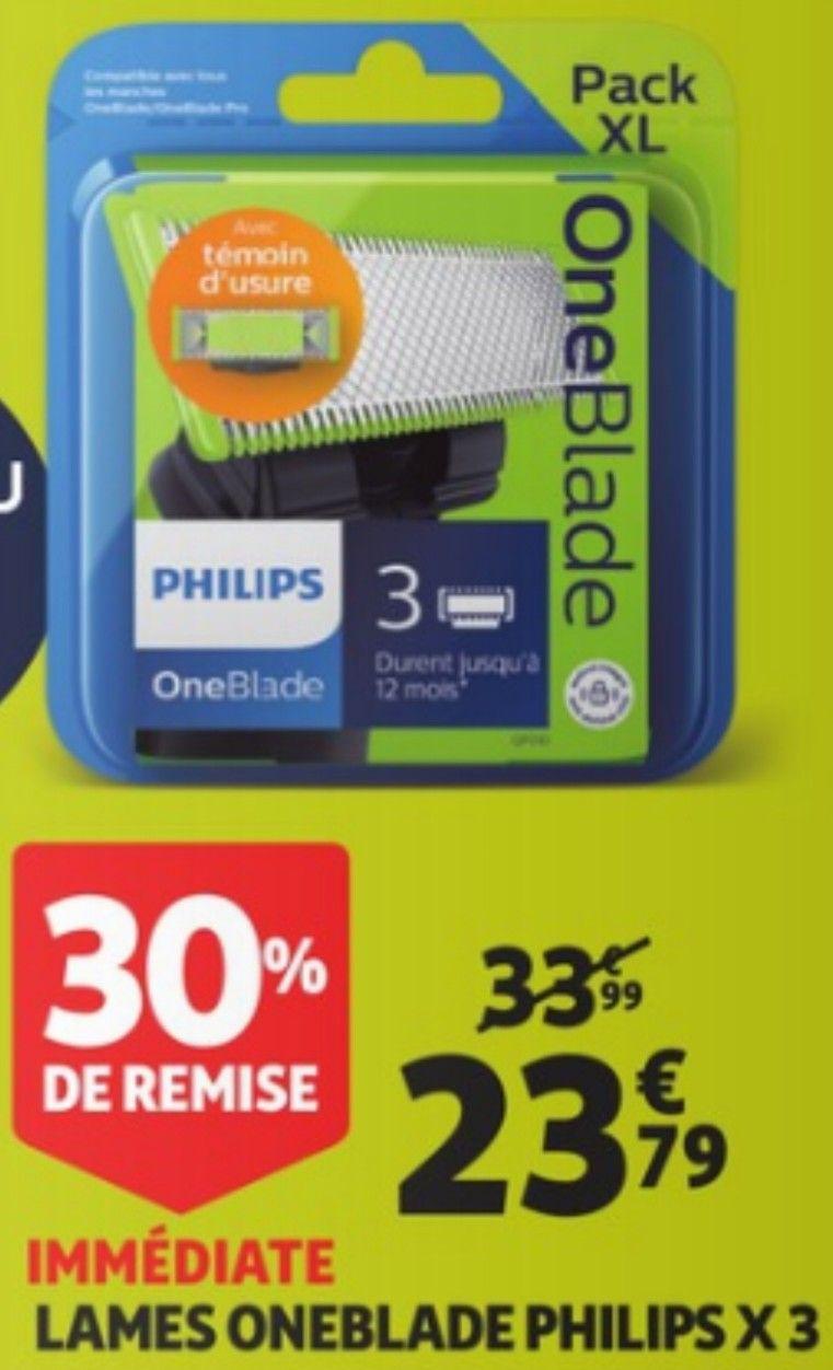 Lot de 3 lames Philips OneBlade