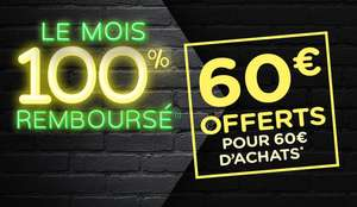 4 bons d'achats de 15€ valables dès 60€ de courses offerts à partir de 60€ d'achat (1 bon utilisable par semaine pendant 4 semaines)