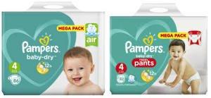 Paquet de couches Pampers MegaPack Baby-Dry ou Dry Pants en promotion - Ex : Baby-Dry (via 17.82€ sur la carte de fidélité + BDR)