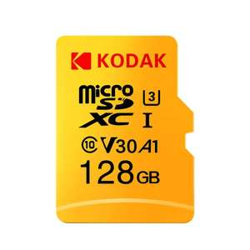 Carte microSDXC Kodak V30 A1 classe 10 - 128 Go