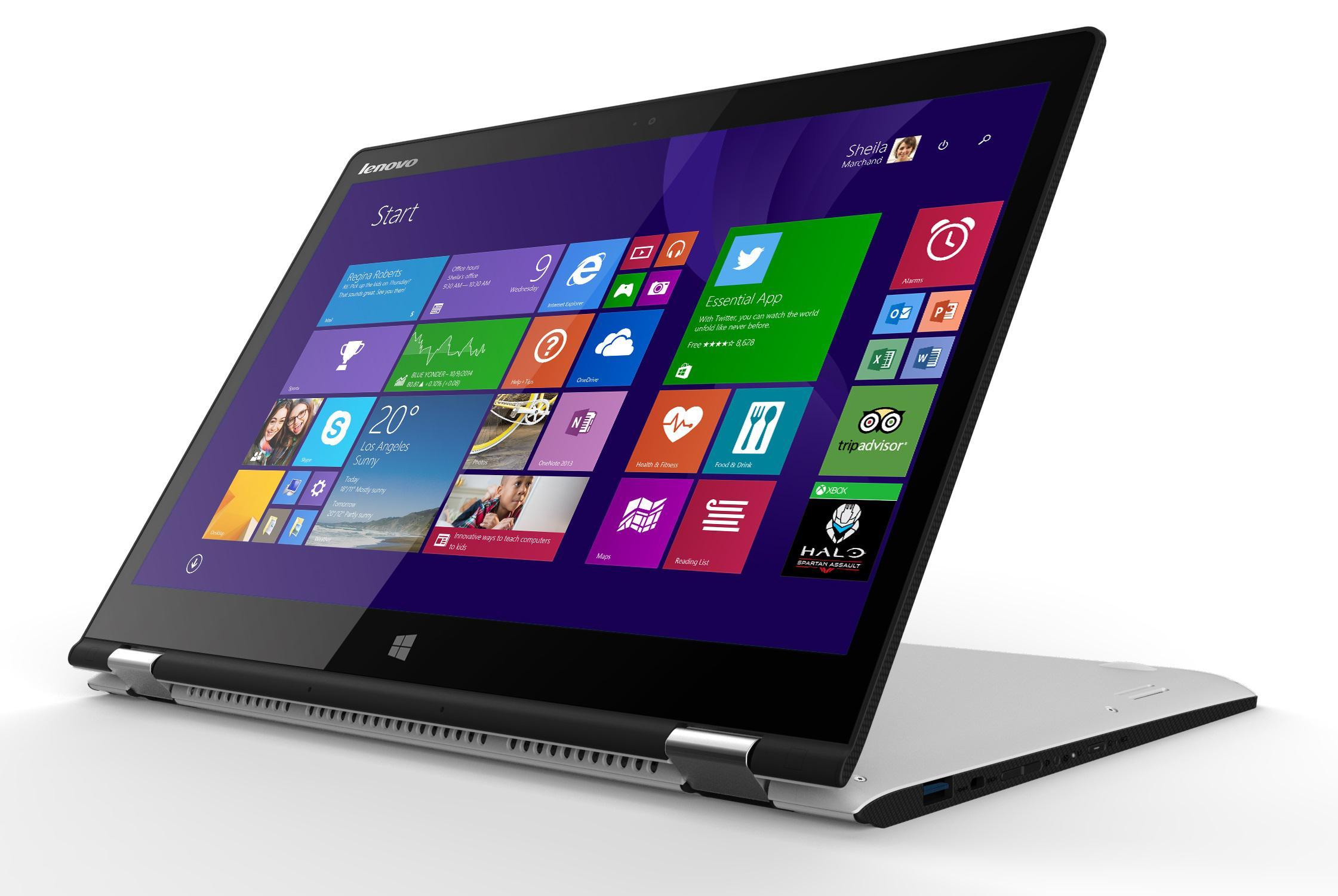 "PC Portable Convertible Tactile 14"" Lenovo Yoga 3 14 (Intel Core i3, 4Go RAM, HDD 500 Go + 8 Go SSD, GeForce G940M)"