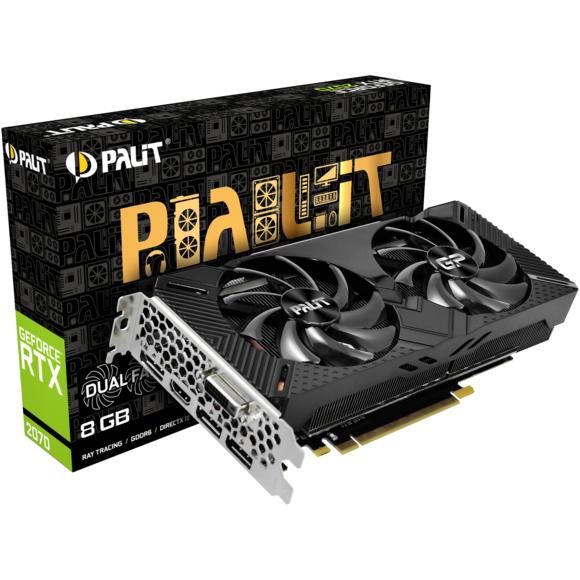 Carte Graphique Palit GeForce RTX 2070 Dual V1 - 8 Go