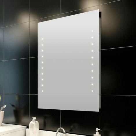 Miroir de salle de bain avec éclairage LED - 100 x 60 cm à 49.99€ et 60 x 80 cm