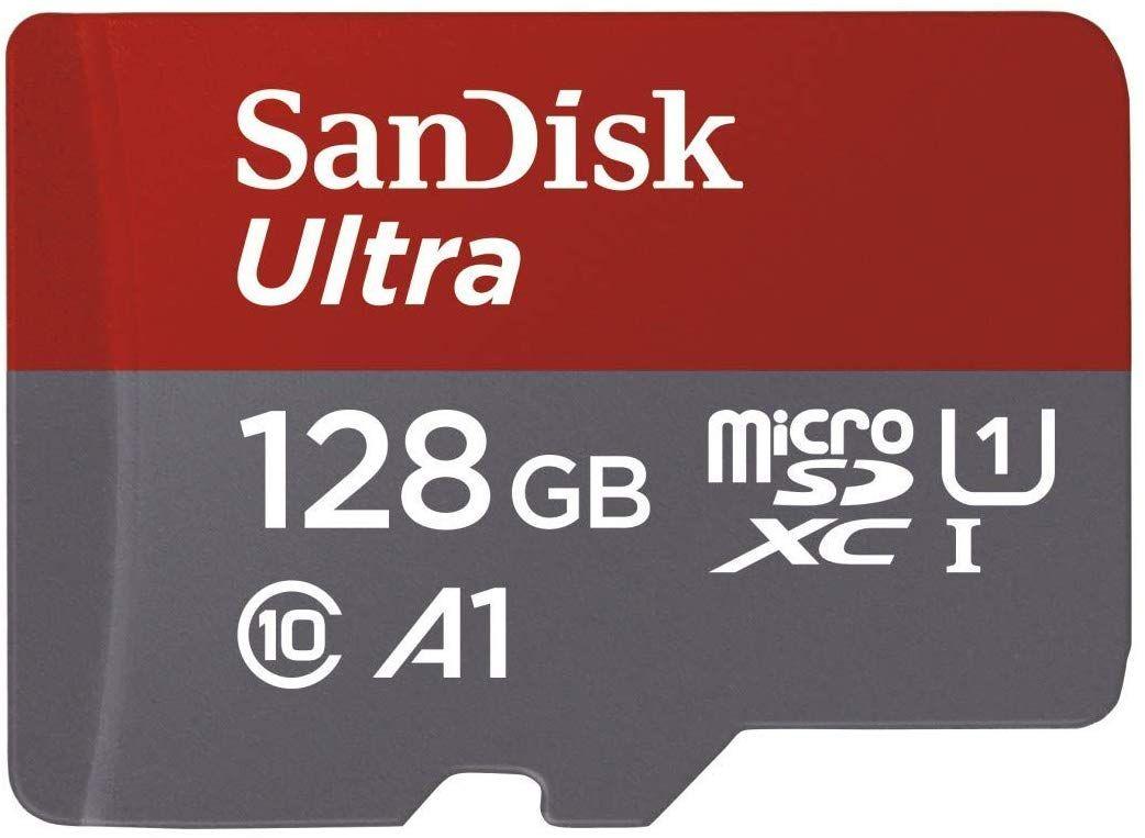 Carte mémoire SanDisk Ultra A1 (Compatible Switch) - 128 Go, vendu et expédié par Amazon