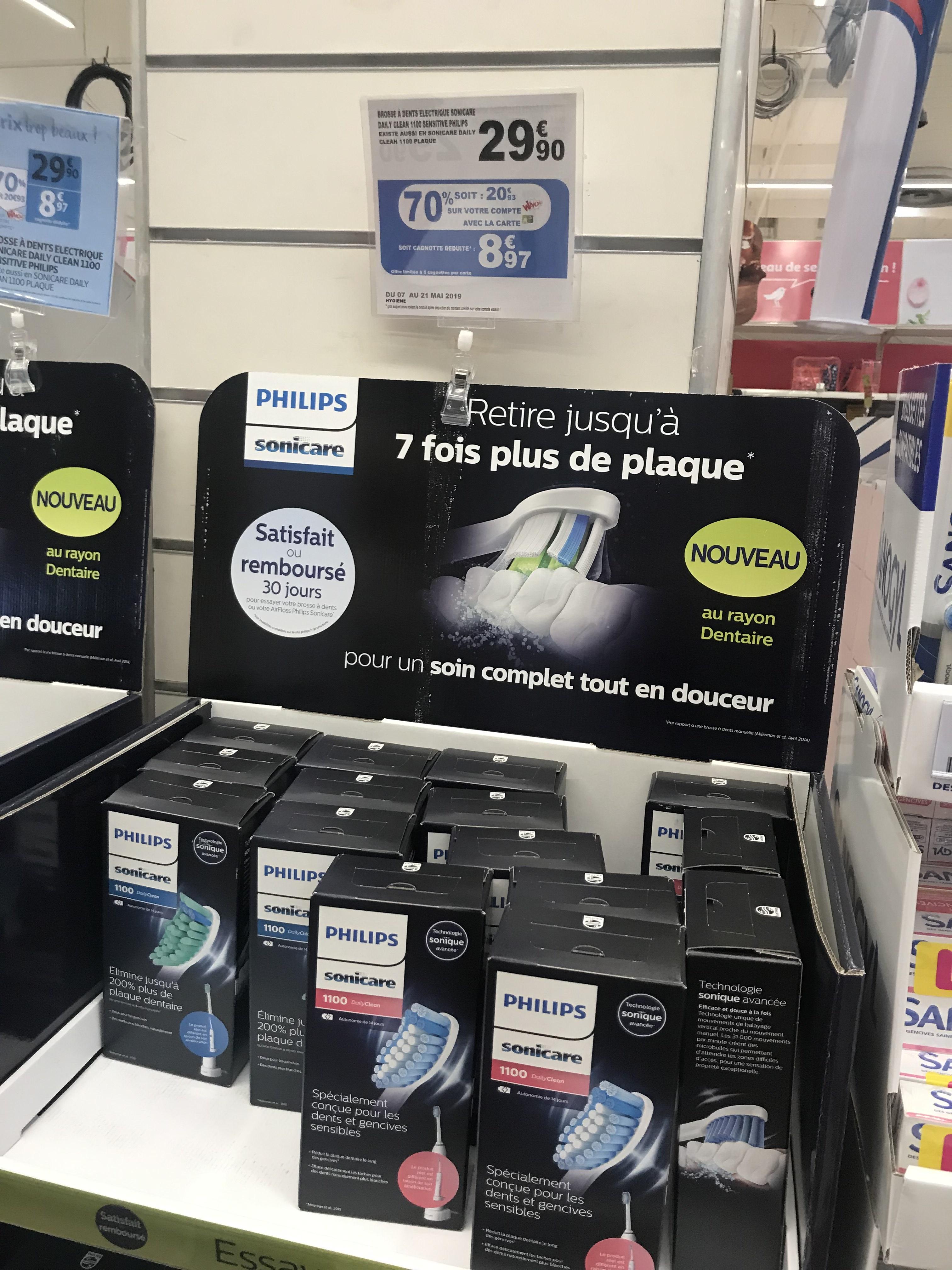 Brosse à dent électrique Philips (Via 20,93€ sur la carte fidélité) - Saint Genis Laval (69)