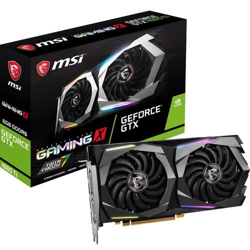 Carte graphique : MSI GeForce GTX 1660 Ti GAMING X - 6 Go + Bundle Fortnite offert
