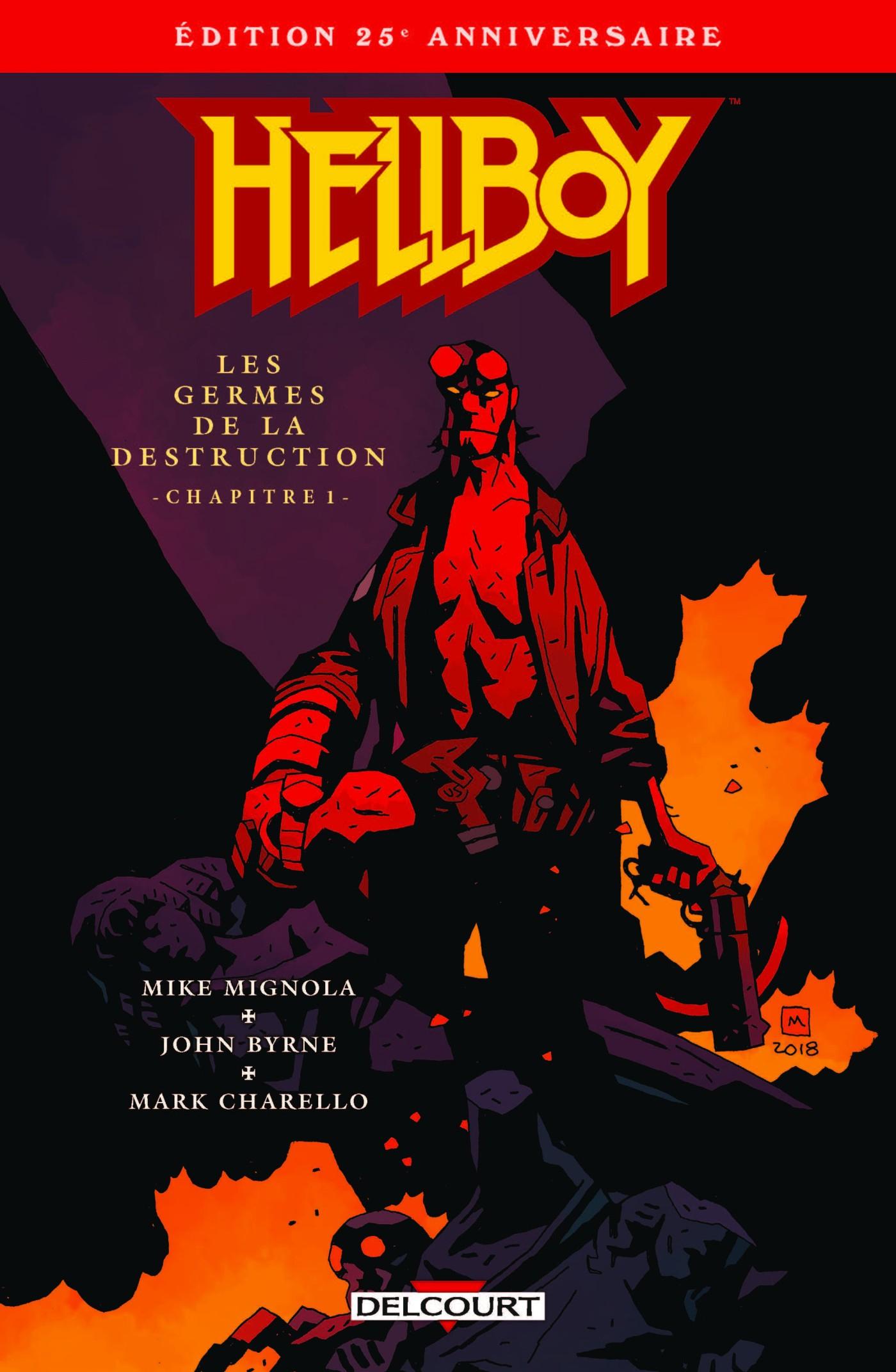 """Bande dessinée Hellboy Tome 1 """"Les germes de la destruction'' 1er chapitre gratuit édition 25ème anniversaire (dématérialisé)"""