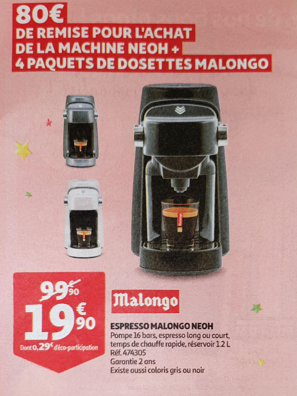 Machine expresso à dosettes Malongo Neoh 474305 - 1.2L
