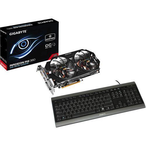 Carte graphique Gigabyte Radeon R9 380 WindForce 2Go GDDR5 OC + Clavier Gigabyte K7100