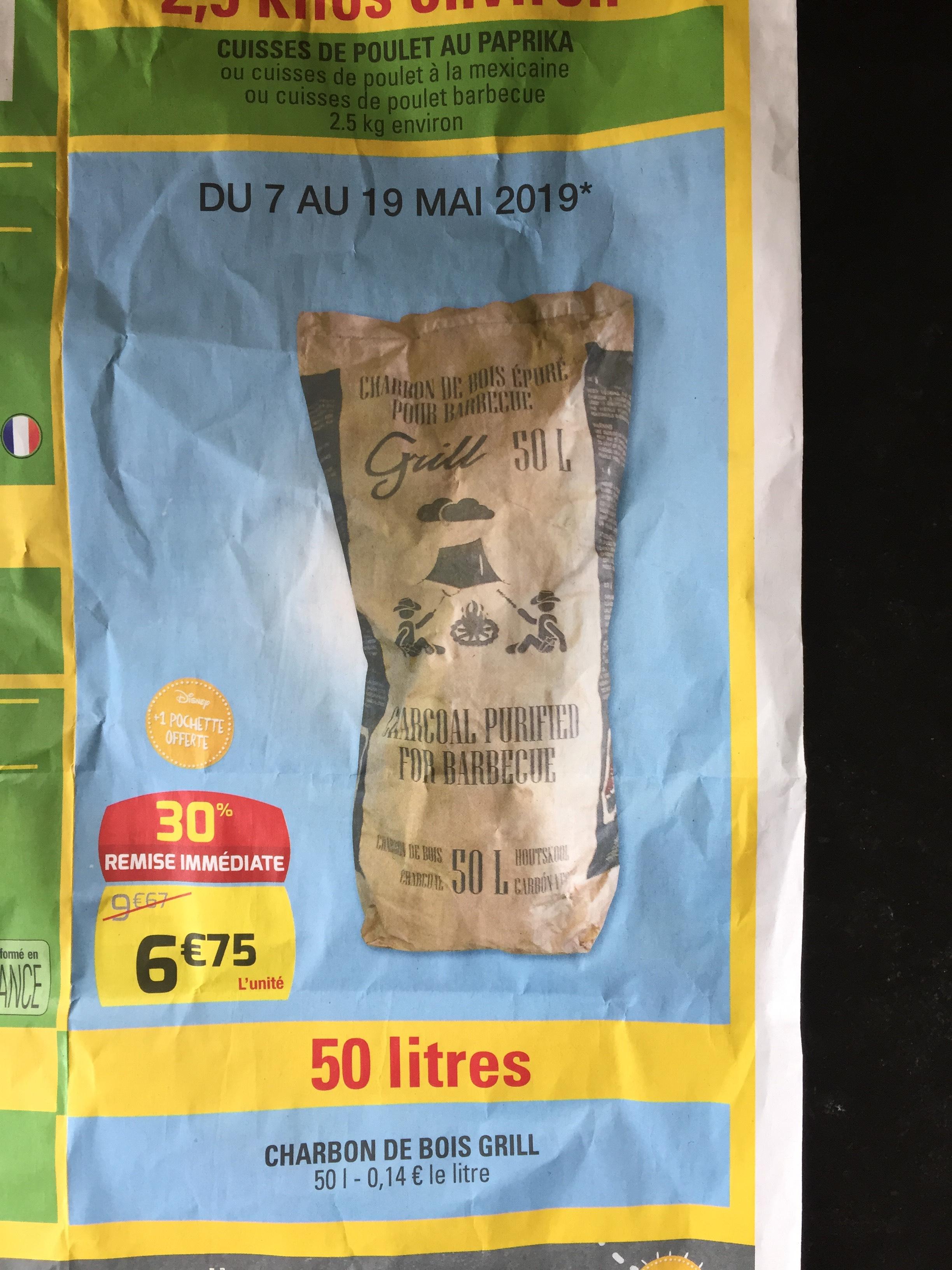 Sac de Charbon de bois épuré (50L) - Vannes (56)