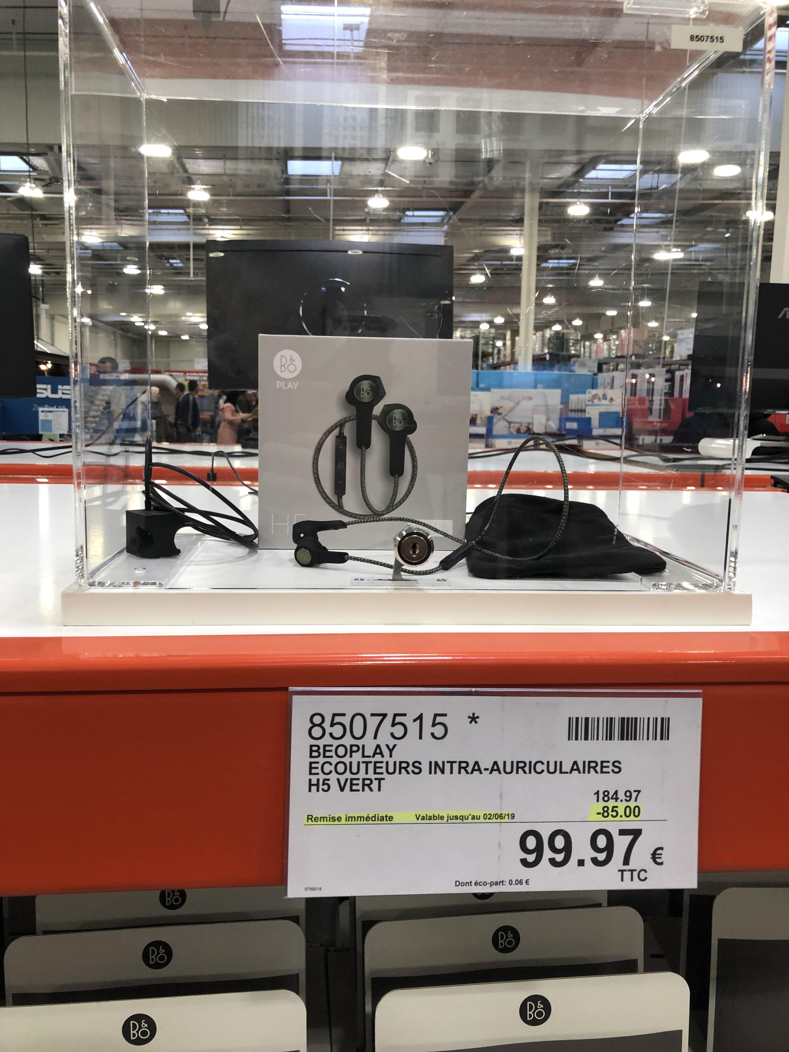 [Carte Costco] Ecouteurs Intra-auriculaires Sans-fil Bang & Olufsen B&O Play H5 Noir - Bluetooth (CostCo Villebon - 91)