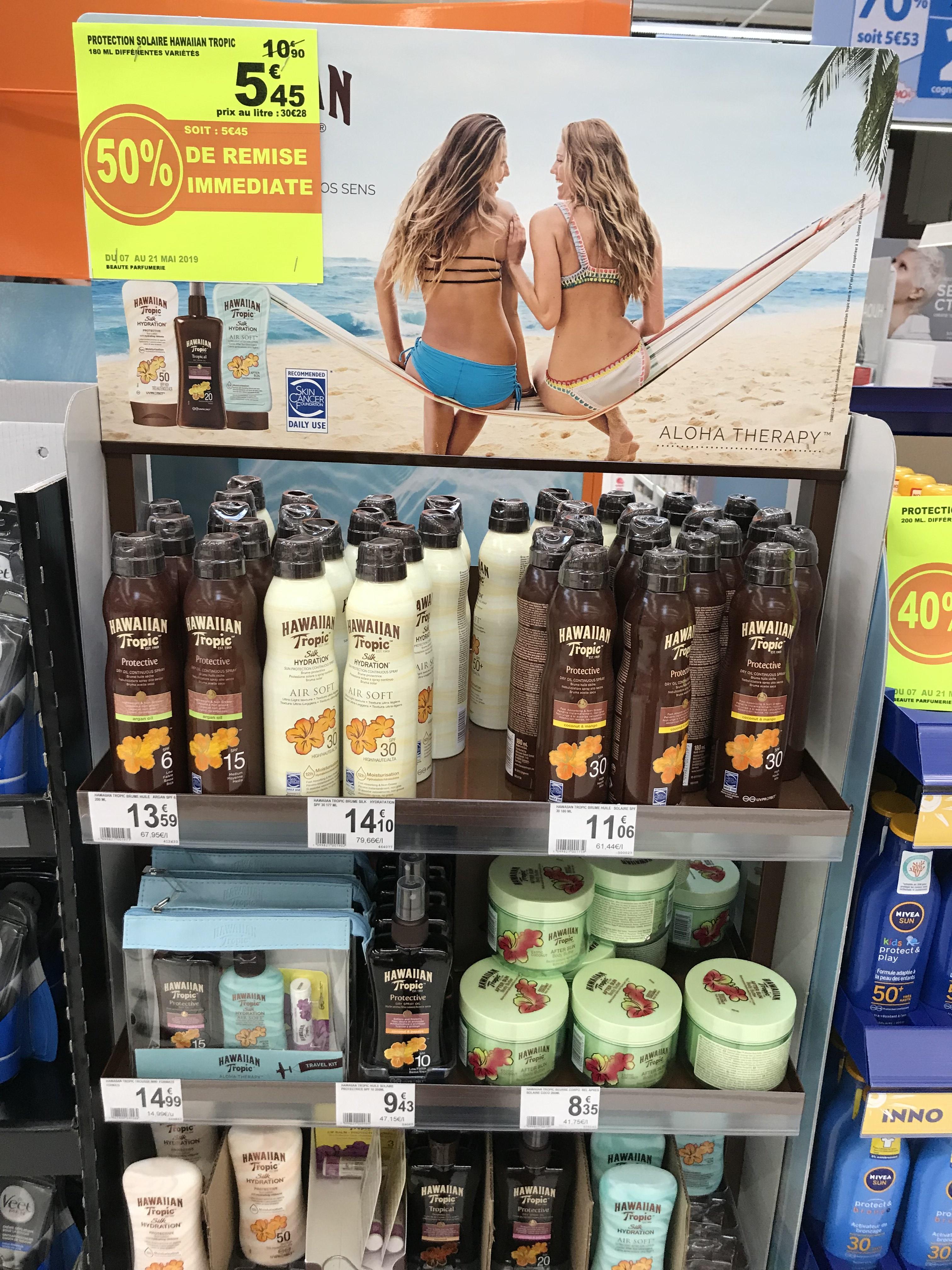 50% de réduction sur une sélection de produits Hawaiian Tropic - Dury (80)
