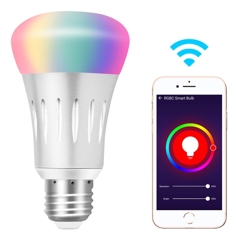 Ampoule Connectée RGB Yuanguo - E27, 6000k, 600LM, 7W, RGB (Compatible Alexa et Google - vendeur tiers)