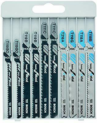 Assortiment de lames de scie sauteuse Bosch 2607010630 - 10 pièces