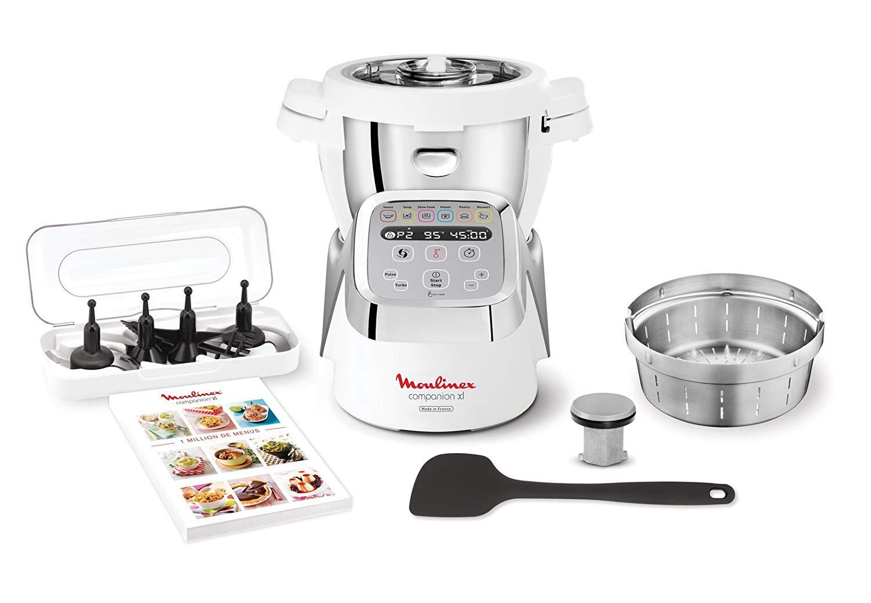 Robot cuiseur Moulinex Companion XL HF806E10 (via 168.90€ sur la carte fidélité) + 80€ d'ustensiles offerts (via offre de remboursement)