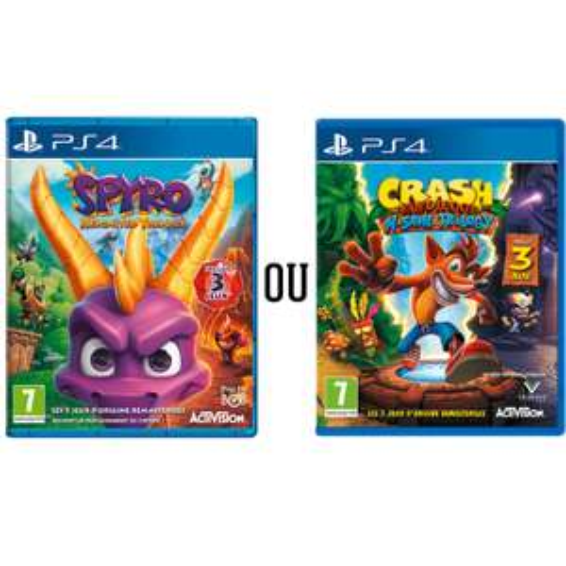 Spyro Reignited Trilogy ou Crash Bandicoot N.Sane Trilogy sur PS4 ou Xbox One