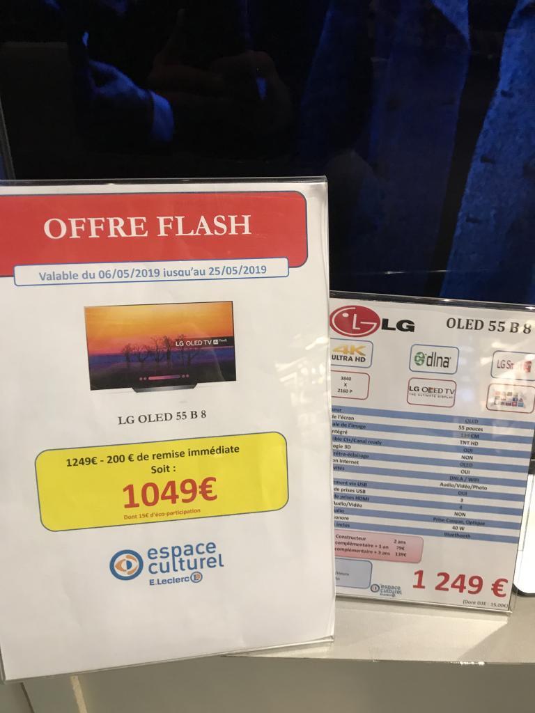 "Sélection de téléviseurs en promotion - Ex : TV 55"" LG OLED 55B8 - 4K UHD -  Rennes Cleunay (35)"