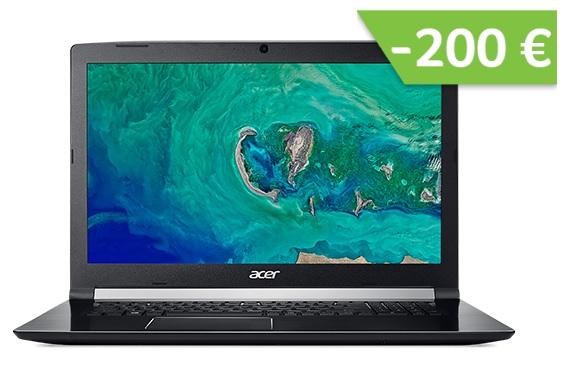"PC Portable 17.3"" Acer Aspire 7 - Full HD, i5-8300H, GTX 1060 (6Go), 256Go SSD + 1To HDD, Windows 10"