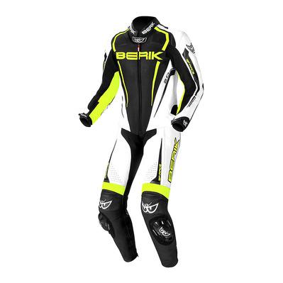 Combinaison de moto Berik LS1-171334 - noir / blanc / jaune (du 52 au 58)