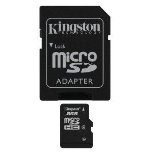 Kingston TransFlash Carte MicroSD 8 Go port inclus