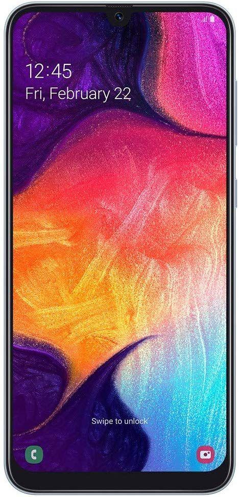 """Smartphone 6.4"""" Samsung Galaxy A50 - FullHD+, 128Go ROM, 4Go ram, Exynos 9610, Blanc (Vendeur Tiers)"""