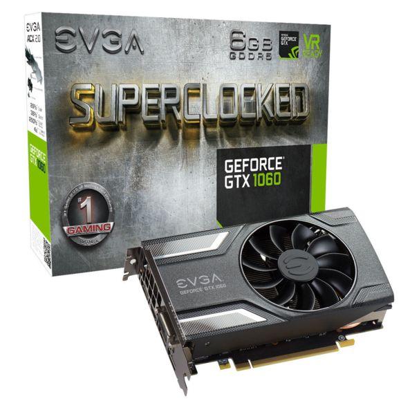 Carte graphique EVGA GeForce GTX 1060 SC Gaming - 6 Go
