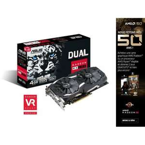 Carte graphique Asus Radeon RX 580 DUAL OC 8Go + Tom Clancy's The Division 2 & World War Z