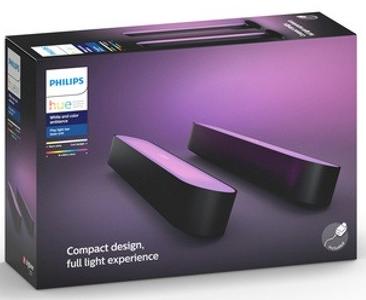 Pack de 2 Lampes connectées Philips Hue Play - Noir + 2 Ampoules White Colors E27 offerts + 30€ en bon d'achat